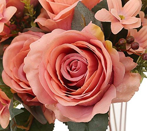 rose silk flower arrangement