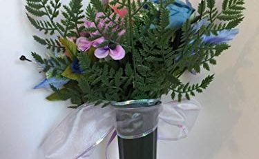 artificial funeral flower arrangement