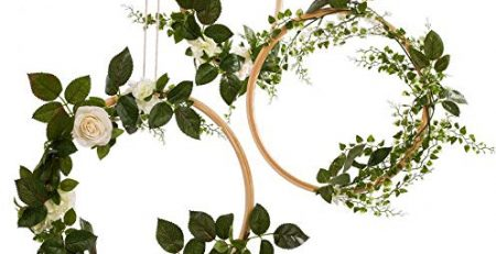 artificial rose wreath