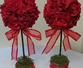 faux flower topiary