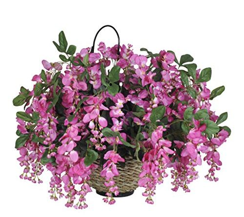 silk flower hanging basket
