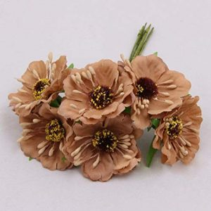 Artificial Flowers Brown