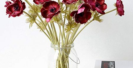 silk anemone floral arrangement