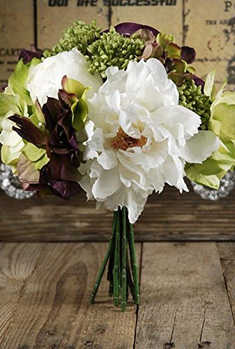 artificial flower arrangements peony