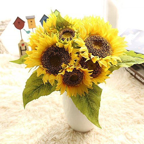 Artificial Flower Arrangements Sunflowers