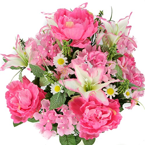 artificial flowers pink