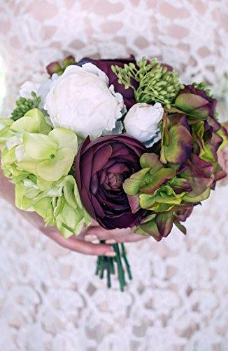 Silk Hydrangeas Flowers