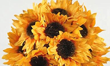 silk sunflower flowers