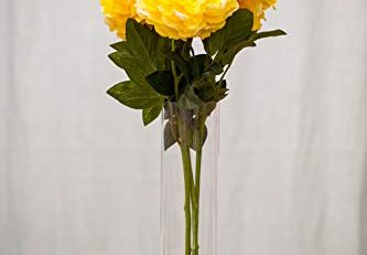 artificial peony flower yellow