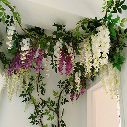 fake wisteria flowers
