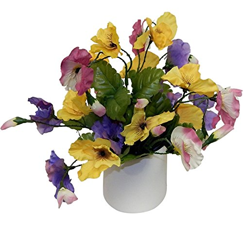Silk Pansy Flowers