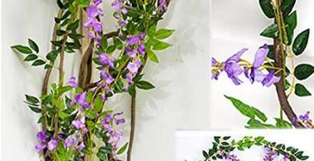 silk wisteria flowers