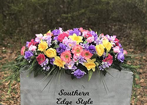 artificial cemetery headstone saddle
