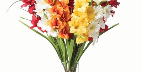 Gladiolus Silk Flower Arrangement