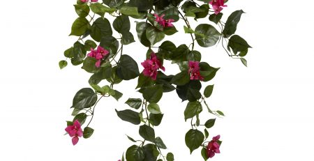 Nearly Natural 6102-S2-BU Bougainvillea hanging basket