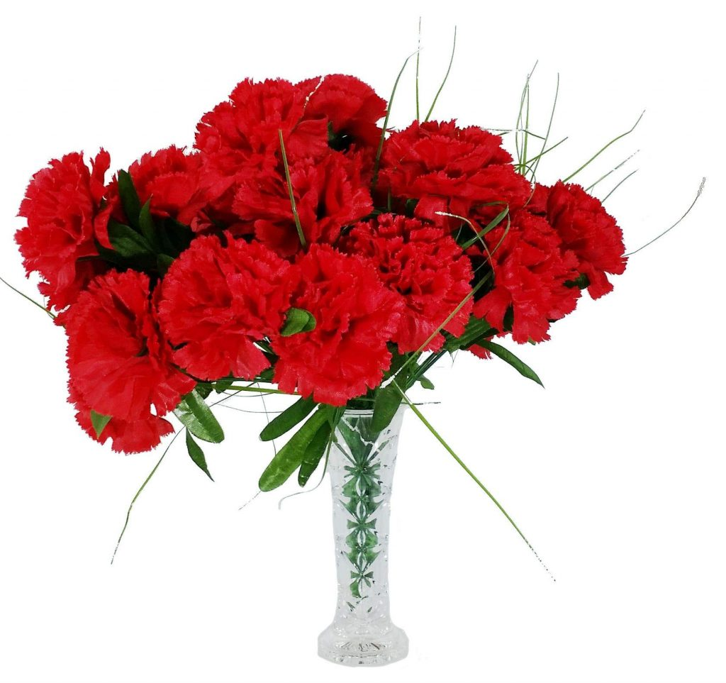 artificial carnation flowers