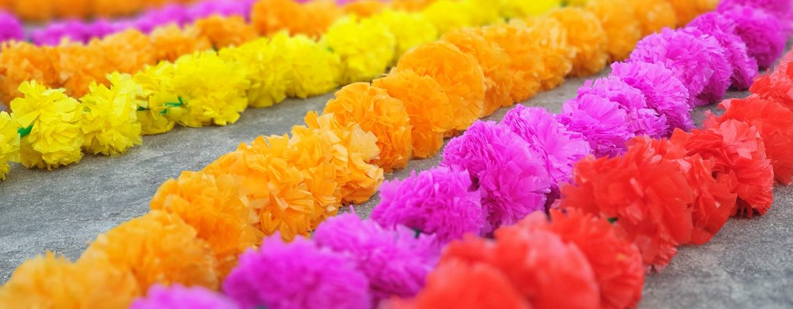 50 pcs lot Real Look Artificial Garlands Marigold Flower Garland