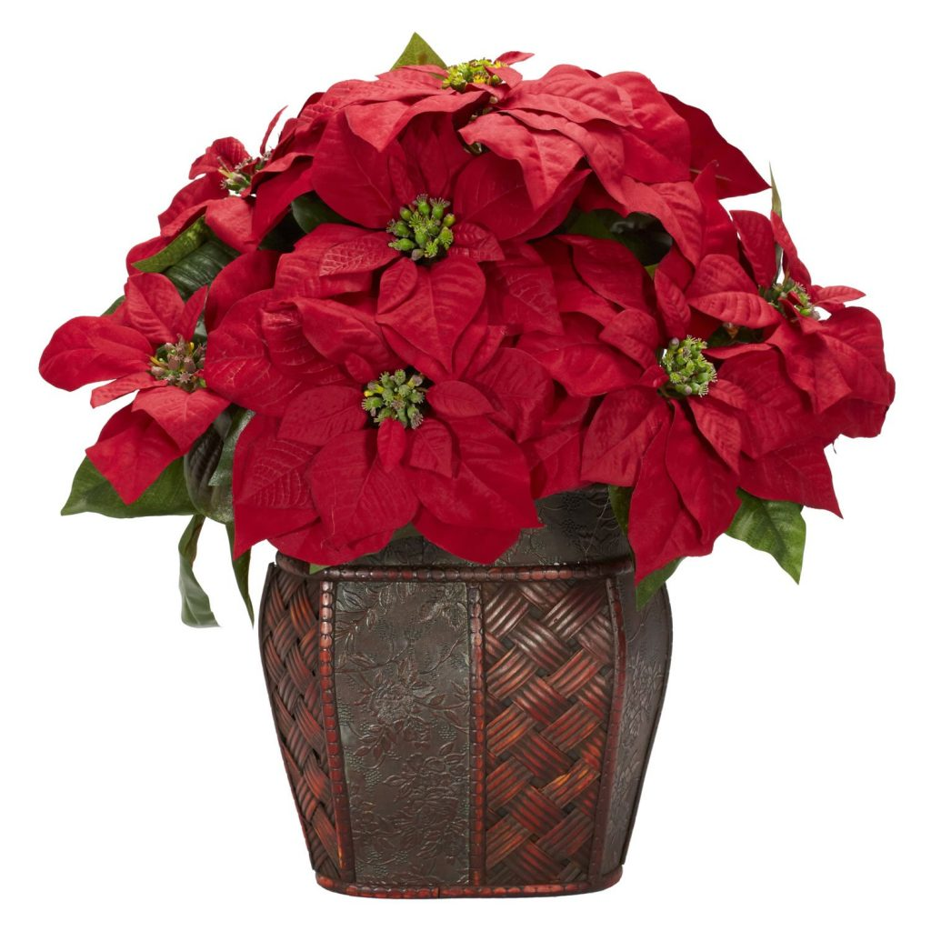 Artificial Poinsettia Flowers
