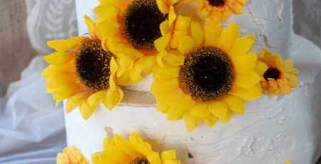 Artificial Silk Sunflower Heads