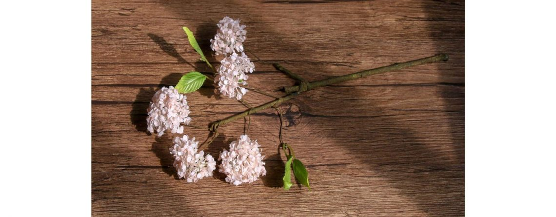The Hot Rock Artificial Hydrangea Flower Snowball Small Single Branch