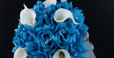 20pc Wedding Bridal Party Flower Package Malibu Turquoise,natural White