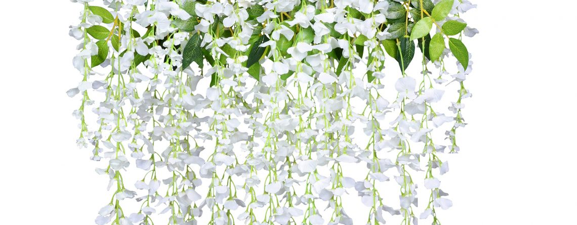 Artificial Fake Wisteria Vine Ratta Hanging Garland Silk Flowers String Home Party