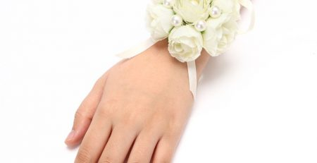 FAYBOX Girl Bridesmaid Wedding Wrist Corsage