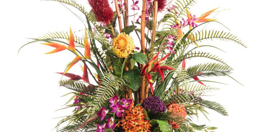 petals tropical resort artificial flower arrangement