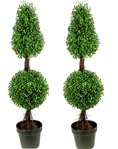 faux topiary trees