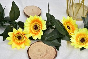 artificial sunflower vine garland ftpc silk sunflower vine artificial flowers sunflower garland with ivy leaves for wedding party table decoration