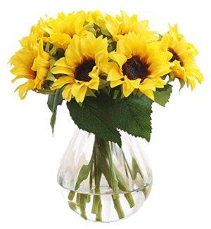 gumolutin pcs artificial sunflower bouquet for wedding bouquet home kitchen ground garden wedding decoration