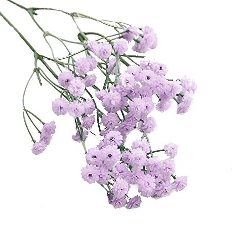 holzkary artificial flowers fake gypsophila bouquets fake real touch flowers for wedding decor diy home party pcpurple