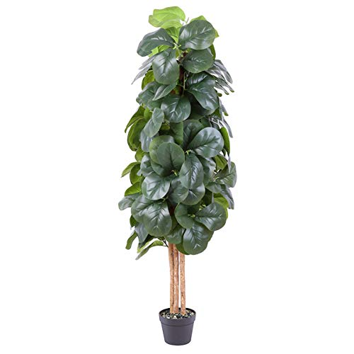 fake fiddle leaf fig tree 6ft artificial greenery plants in pots decorative trees for home office restaurant 0