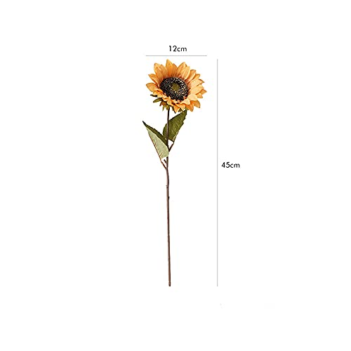 Guhao 7pcs Vintage Sunflowers Artificial Flowers Faux Silk Sunflowers Bouquet Fake Real Touch Flower for Wedding Party Decor Fake SunflowersPurple 0 0