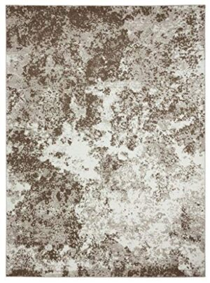 persian rugs 6490 blue 8 x 11 abstract modern area rug 0