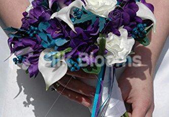 Faux Bridal Bouquet Silk Flower Arrangements