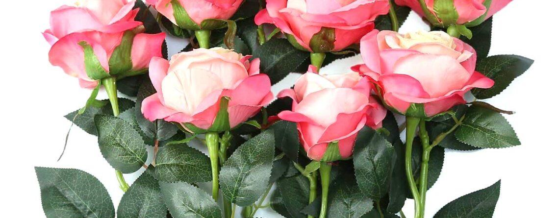 Faux Roses Silk Flower Arrangements