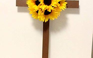 Graveside Crosses Silk Flower Arrangements