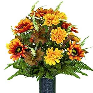 Cemetery Flower Vase Silk Flower Arrangements